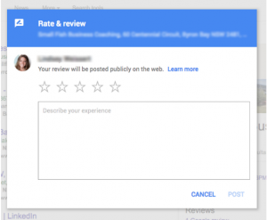 rate & review window tab